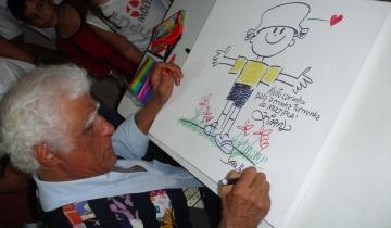 #TBT  de 2005, com a visita do escritor Ziraldo