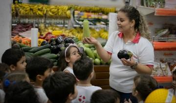 Alunos do Infantil visitam Supermercado Rede Show