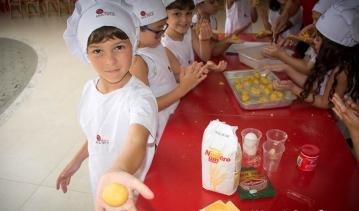 Infantil 5 participa de Oficina de Culinária