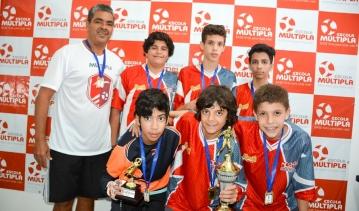 Alunos Múltipla vencem a 2ª Copa Athlos de Futsal Sub 13