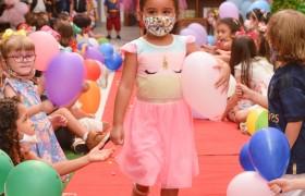 A Semana da Criança está sendo comemorado com muita alegria.